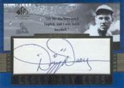 2003 SP Legendary Cuts Autographs Blue #DD Dizzy Dean/4