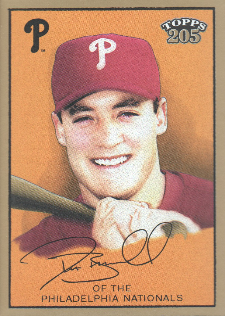 2003 Topps 205 #40B Pat Burrell Brown Bat