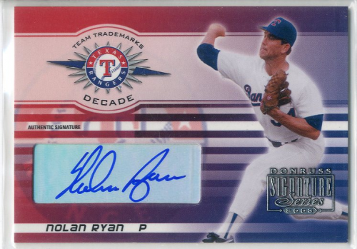 2003 Donruss Signature Team Trademarks Autographs Decade #22 Nolan Ryan Rgr
