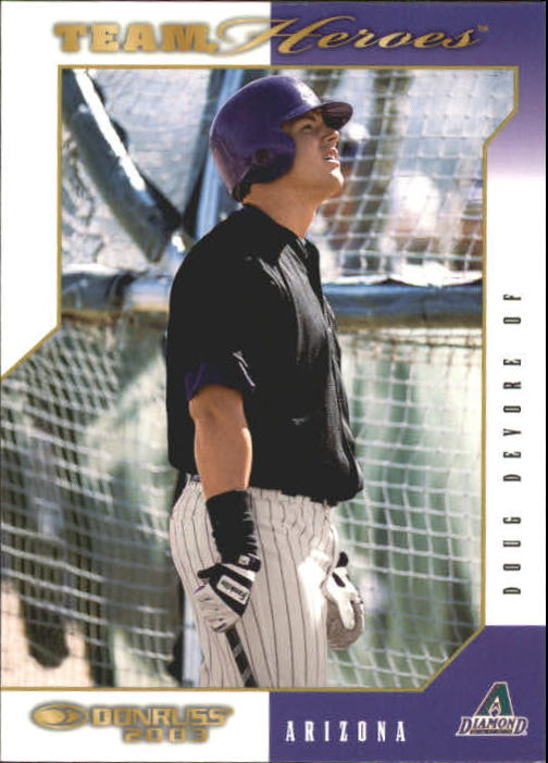 2003 Donruss Team Heroes #15 Doug Devore