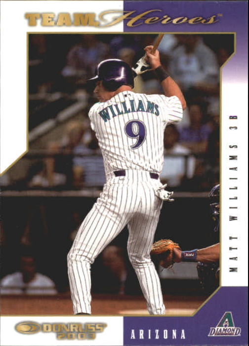 2003 Donruss Team Heroes #17 Matt Williams