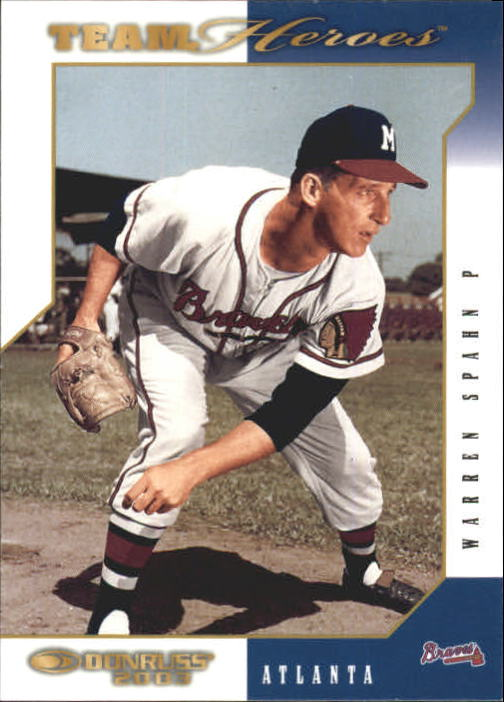 2003 Donruss Team Heroes #29 Warren Spahn