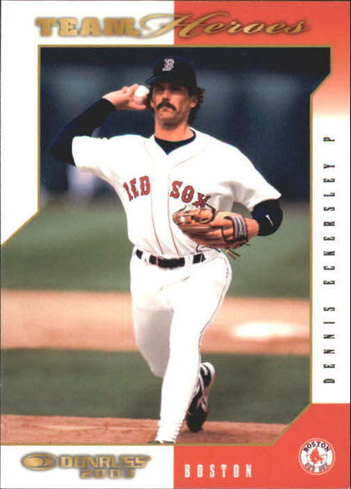 2003 Donruss Team Heroes #72 Dennis Eckersley Red Sox