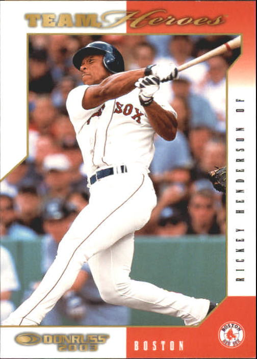 2003 Donruss Team Heroes #80 Rickey Henderson Red Sox
