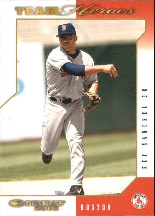 2003 Donruss Team Heroes #91 Rey Sanchez