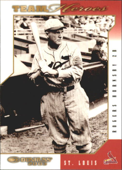 2003 Donruss Team Heroes #484 Rogers Hornsby