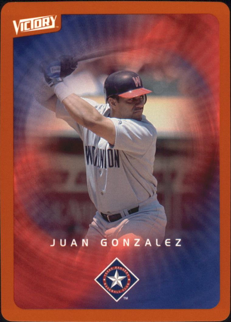2003 Upper Deck Victory Tier 2 Orange #94 Juan Gonzalez