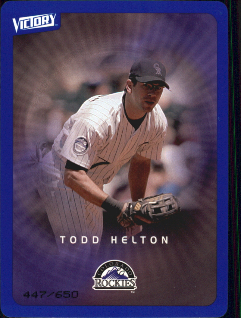 2003 Upper Deck Victory Tier 3 Blue #34 Todd Helton