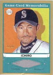 2003 Upper Deck Play Ball Game Used Memorabilia Tier 1 Gold #IS1 Ichiro Suzuki Jsy