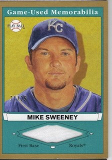 2003 Upper Deck Play Ball Game Used Memorabilia Tier 1 Gold #MS1 Mike Sweeney Jsy