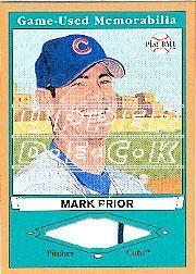 2003 Upper Deck Play Ball Game Used Memorabilia Tier 1 Gold #PR1 Mark Prior Jsy