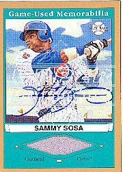 2003 Upper Deck Play Ball Game Used Memorabilia Tier 2 Signatures #SS2 Sammy Sosa Jsy