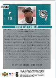 2003 Upper Deck MVP #257 Dontrelle Willis back image