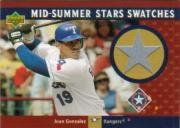 2003 Upper Deck Mid-Summer Stars Swatches #JG Juan Gonzalez Pants