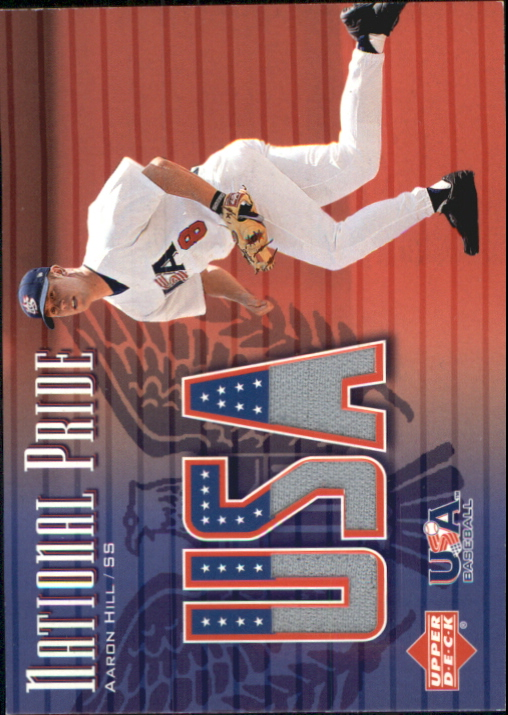 2003 Upper Deck National Pride Memorabilia #AH Aaron Hill