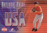 2003 Upper Deck National Pride Memorabilia #DP Dustin Pedroia