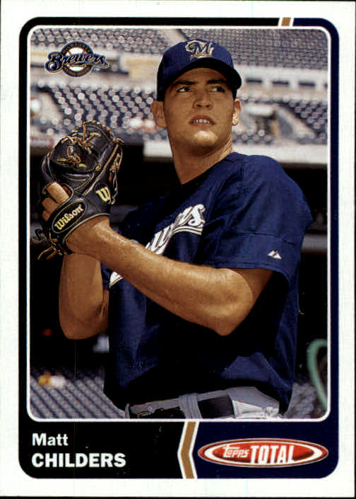 2003 Topps Total #26 Matt Childers