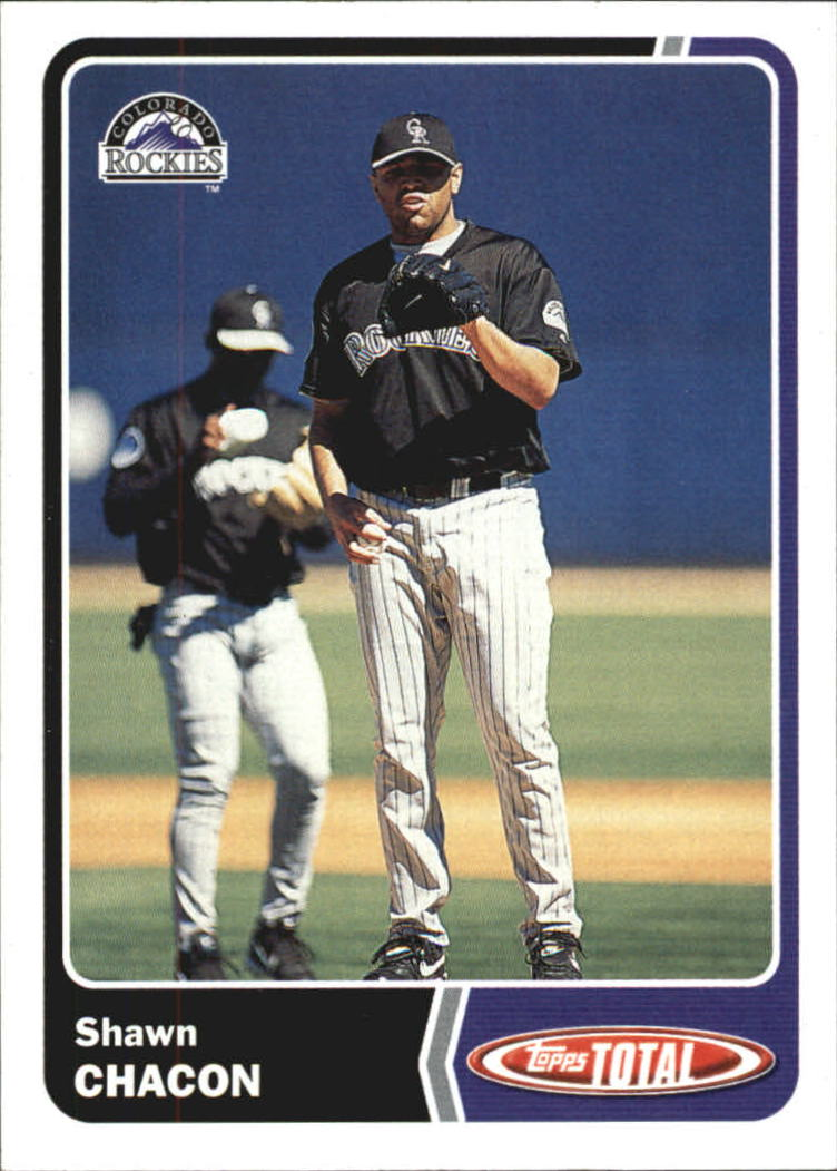 2003 Topps Total #92 Shawn Chacon