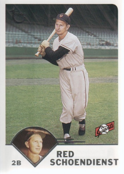 2003 Topps Retired Signature #6 Red Schoendienst