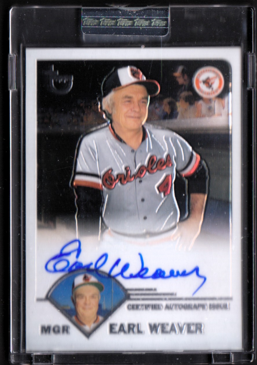 2003 Topps Retired Signature Autographs #EW Earl Weaver G