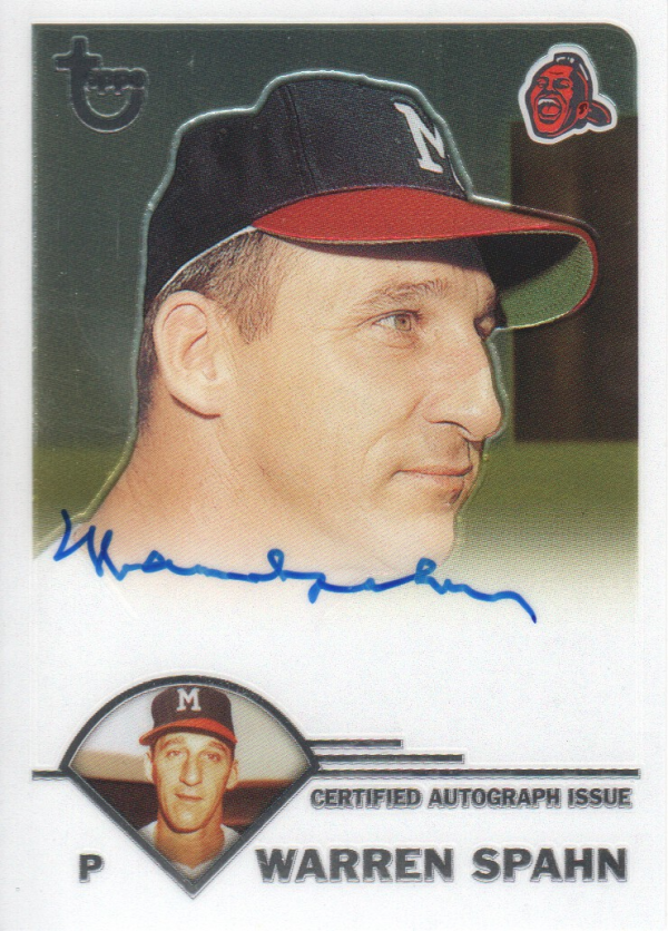 2003 Topps Retired Signature Autographs #WS Warren Spahn F