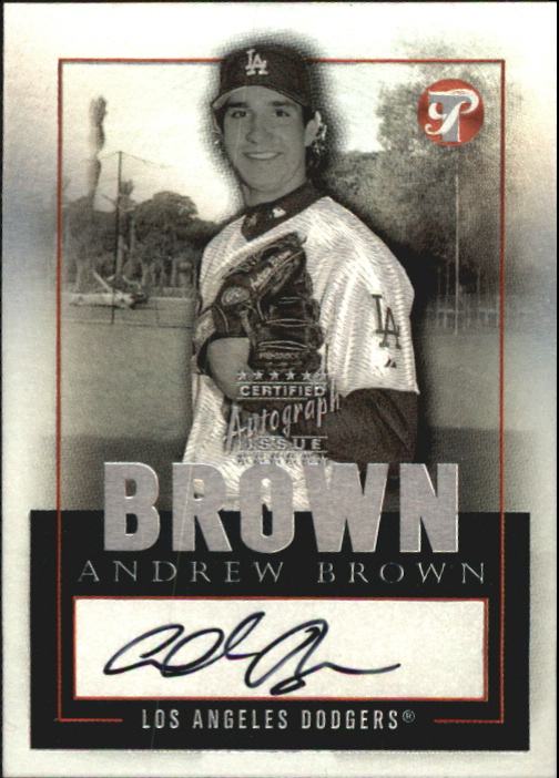 2003 Topps Pristine Personal Endorsements #AB Andrew Brown