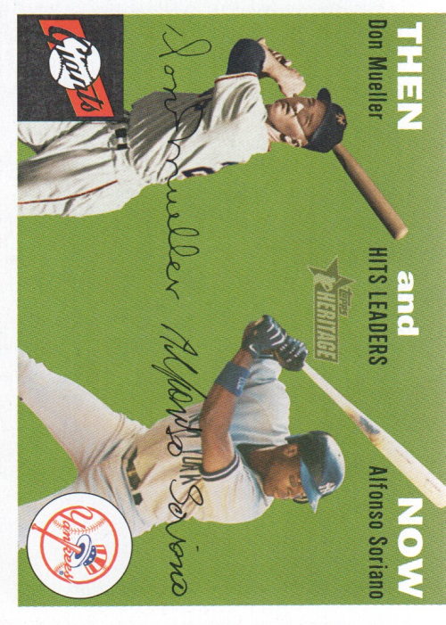2003 Topps Heritage Then and Now #TN4 D.Mueller/A.Soriano