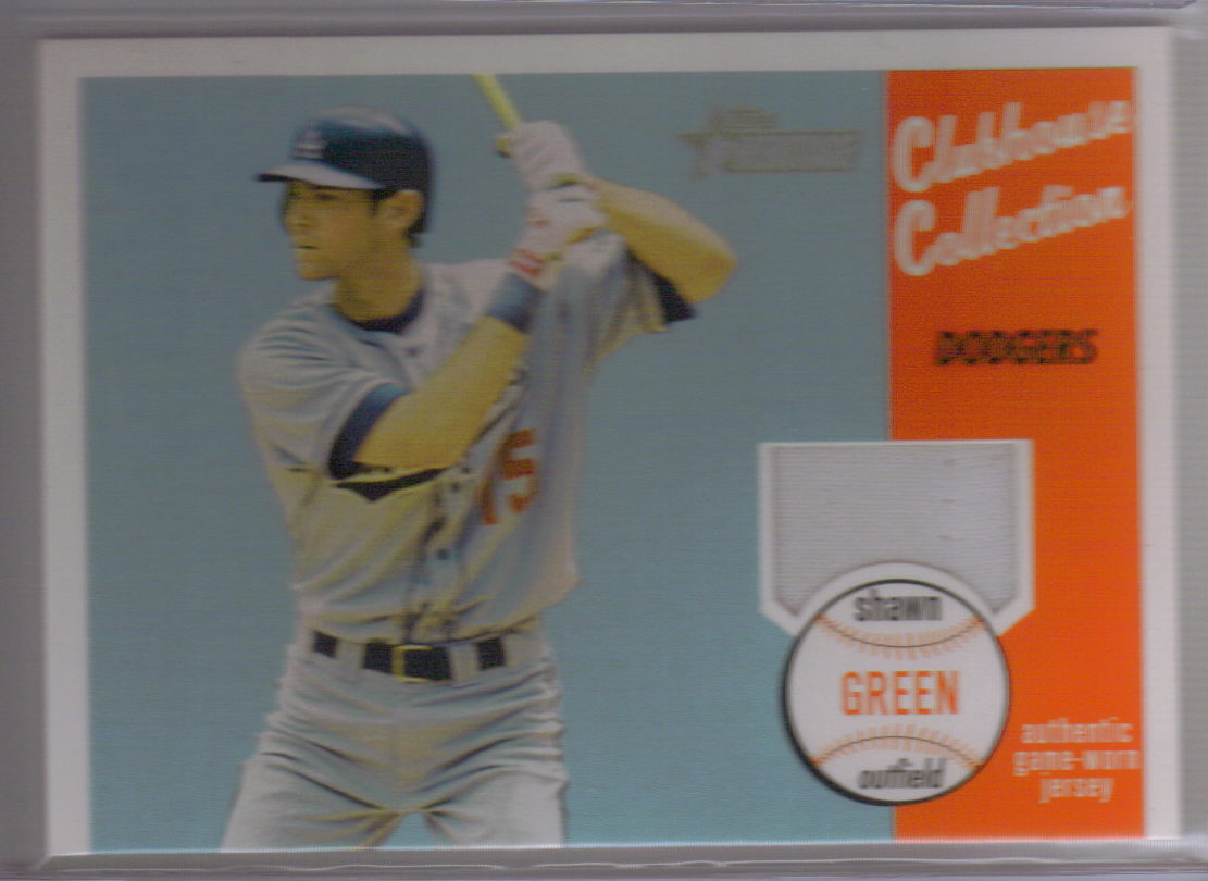 2003 Topps Heritage Clubhouse Collection Relics #SG Shawn Green Uni C