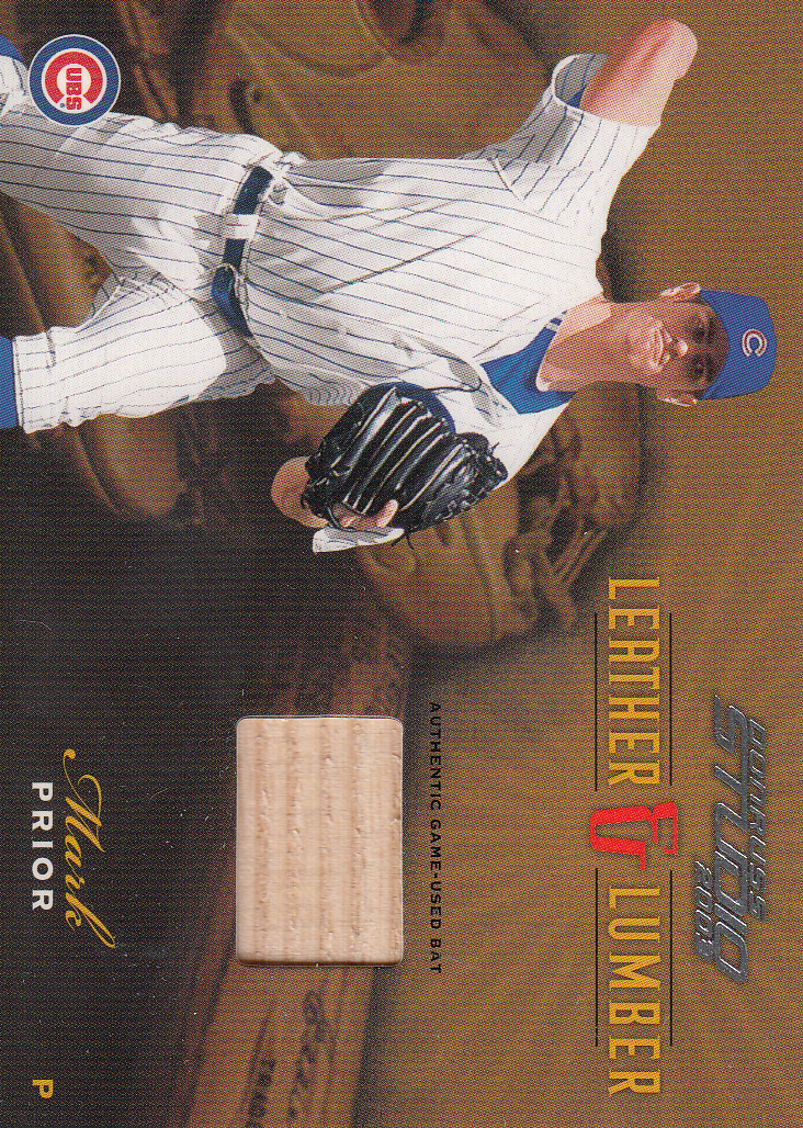 2003 Studio Leather and Lumber #28 Mark Prior Bat/400