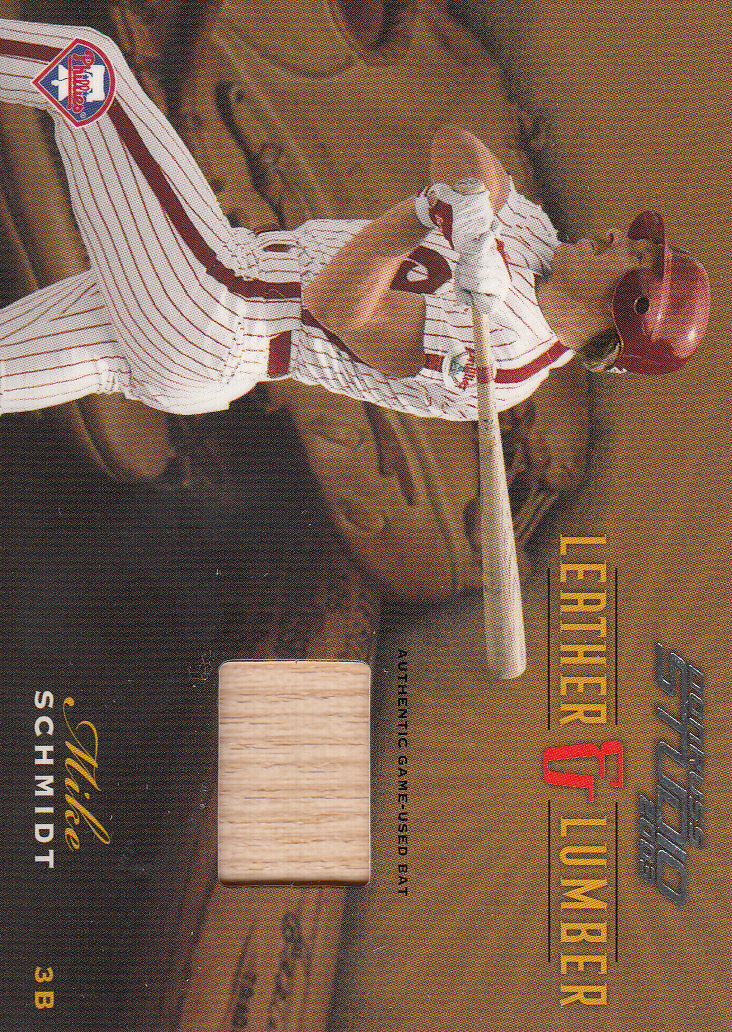 2003 Studio Leather and Lumber #31 Mike Schmidt Bat/200