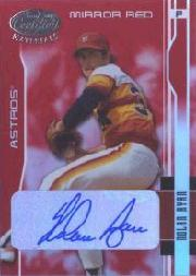 2003 Leaf Certified Materials Mirror Red Autographs #72 Nolan Ryan Astros/5