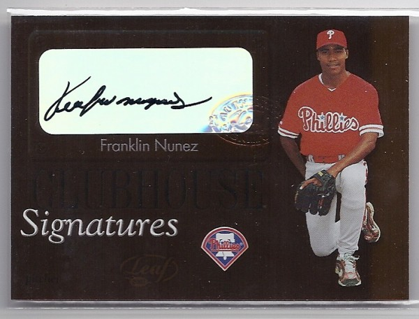 2003 Leaf Clubhouse Signatures Bronze #2 Franklin Nunez