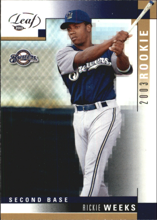 2003 Leaf #329 Rickie Weeks ROO RC
