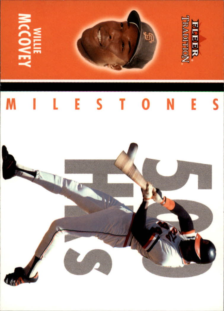 2003 Fleer Tradition Milestones #5 Willie McCovey front image
