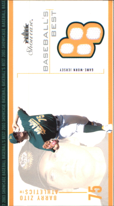 2003 Fleer Showcase Baseball's Best Game Jersey #BZ Barry Zito