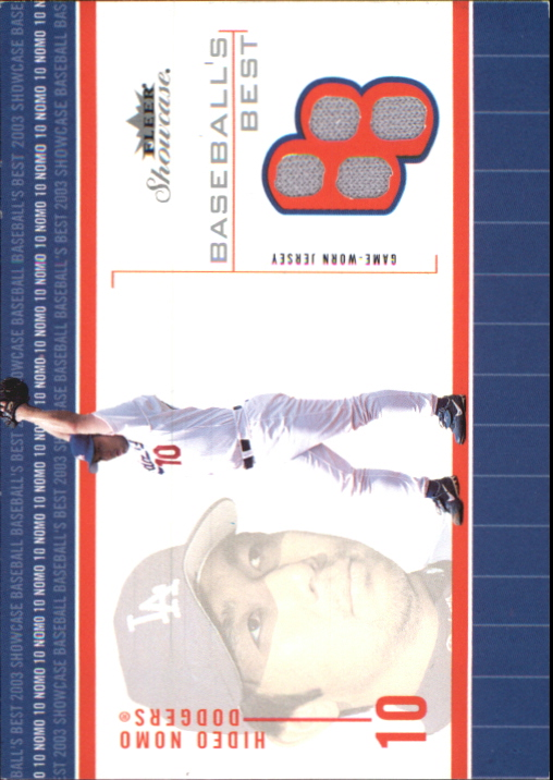 2003 Fleer Showcase Baseball's Best Game Jersey #HN Hideo Nomo Sox
