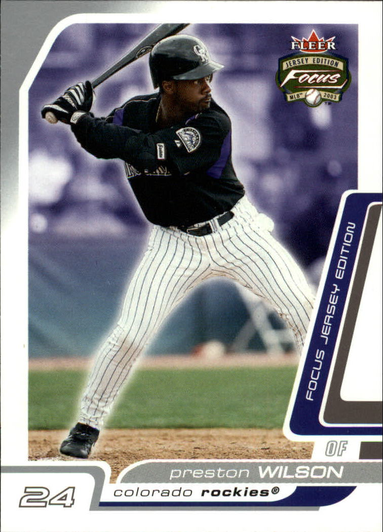 2003 Fleer Focus JE #2 Preston Wilson