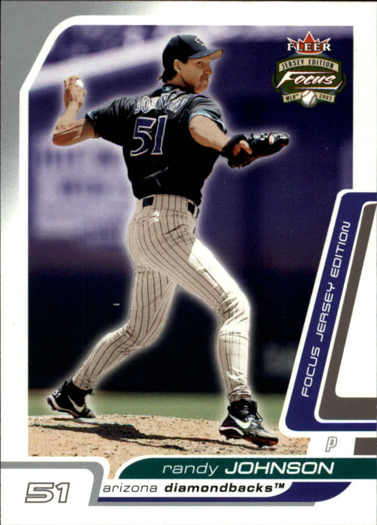 2003 Fleer Focus JE #16 Randy Johnson
