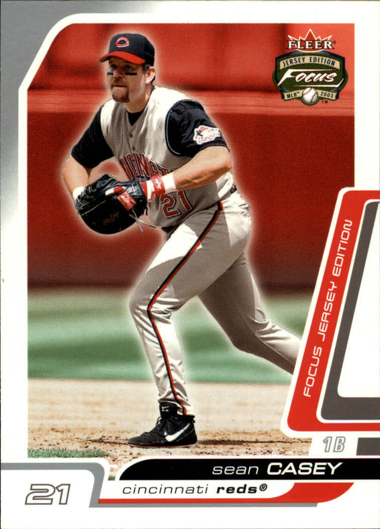 2003 Fleer Focus JE #29 Sean Casey