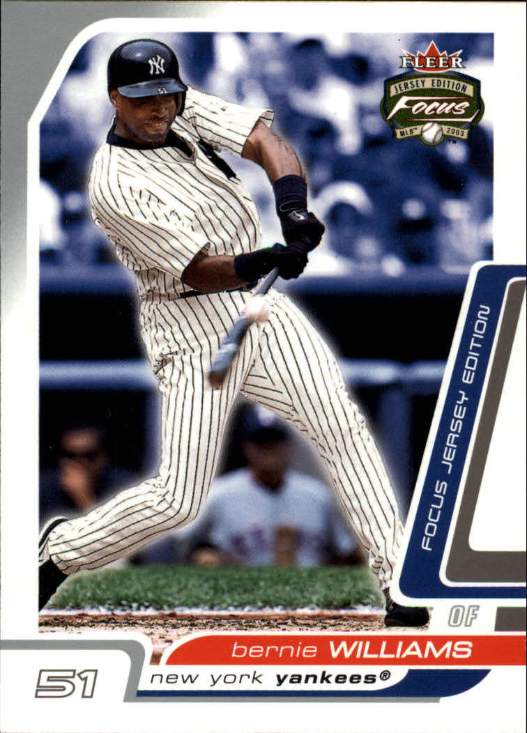 2003 Fleer Focus JE #30 Bernie Williams