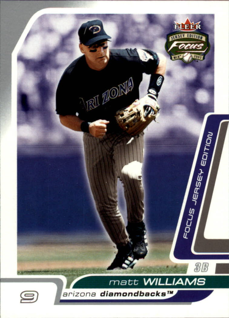 2003 Fleer Focus JE #58 Matt Williams