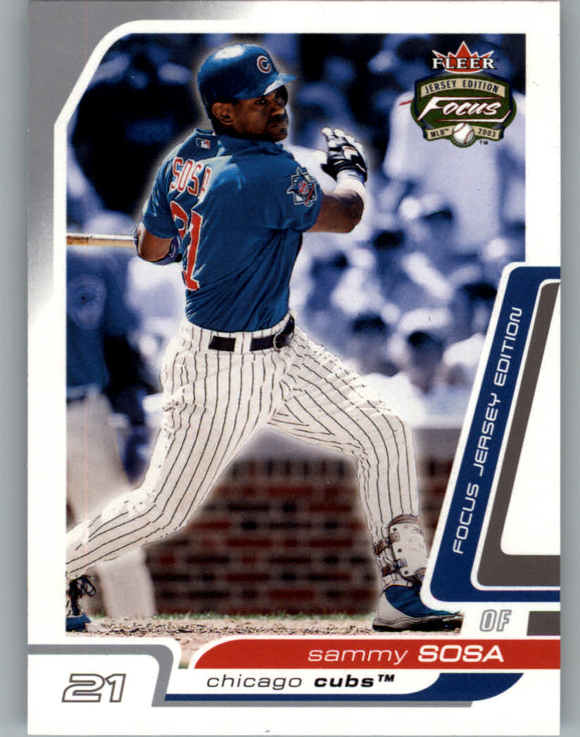 2003 Fleer Focus JE #71 Sammy Sosa