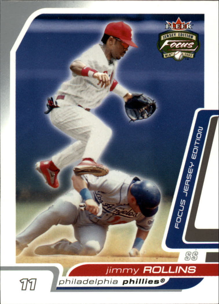 2003 Fleer Focus JE #160 Jimmy Rollins