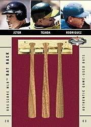 2003 Fleer Box Score Bat Rack Trios #8 Jeter/Tejada/A.Rod