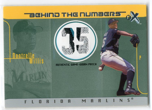 2003 E-X Behind the Numbers Game Jersey 99 #DW Dontrelle Willis