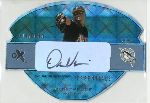 2003 E-X Diamond Essentials Autographs #DW Dontrelle Willis/265