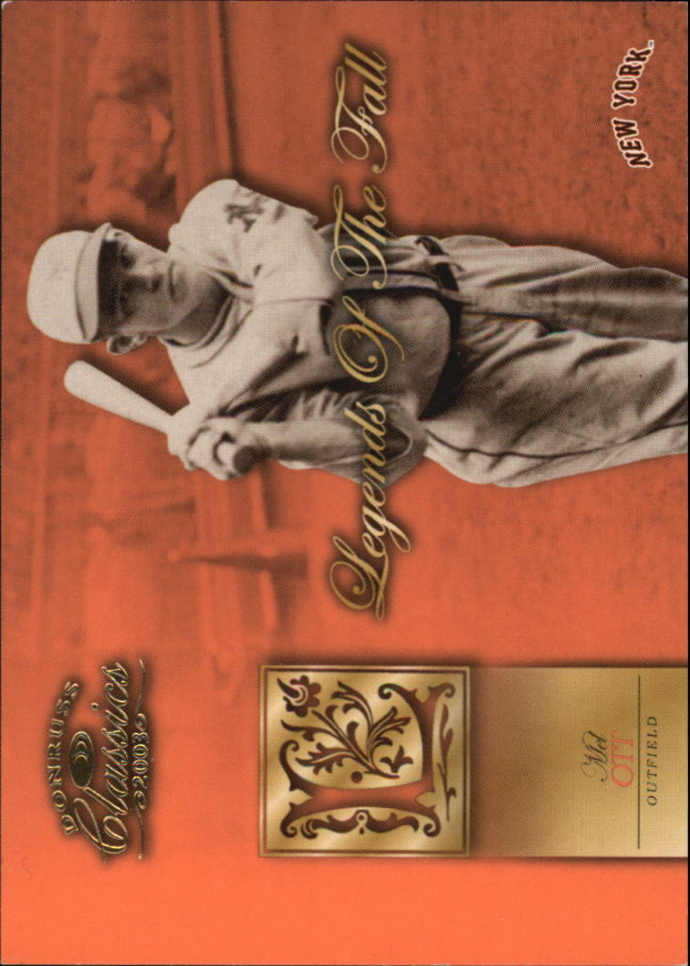 2003 Donruss Classics Legends of the Fall #4 Mel Ott
