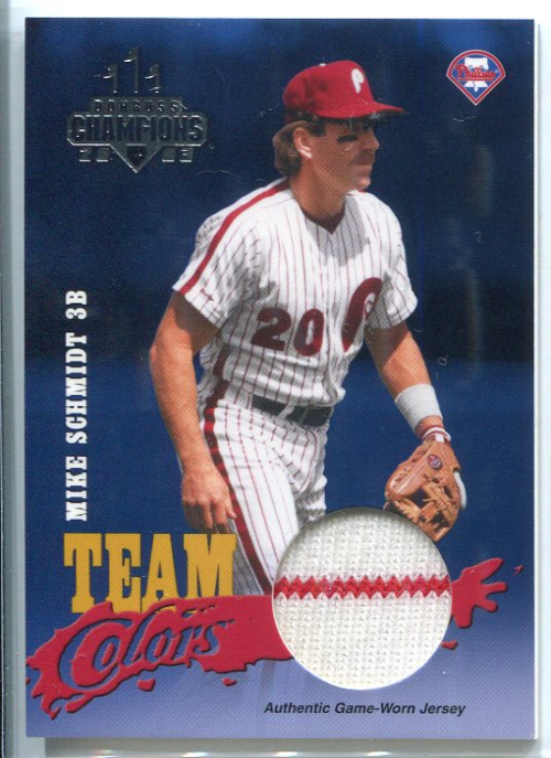 2003 Donruss Champions Team Colors Materials #2 Mike Schmidt Jsy/200