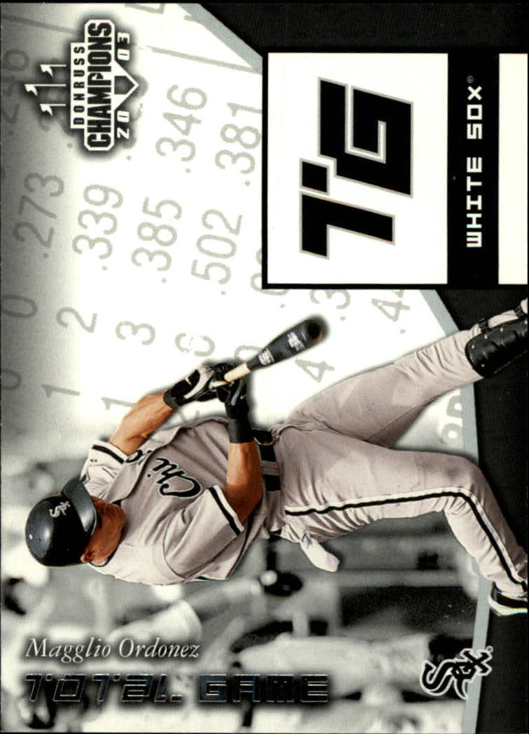 2003 Donruss Champions Total Game #3 Magglio Ordonez