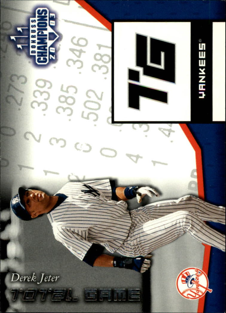 2003 Donruss Champions Total Game #5 Derek Jeter